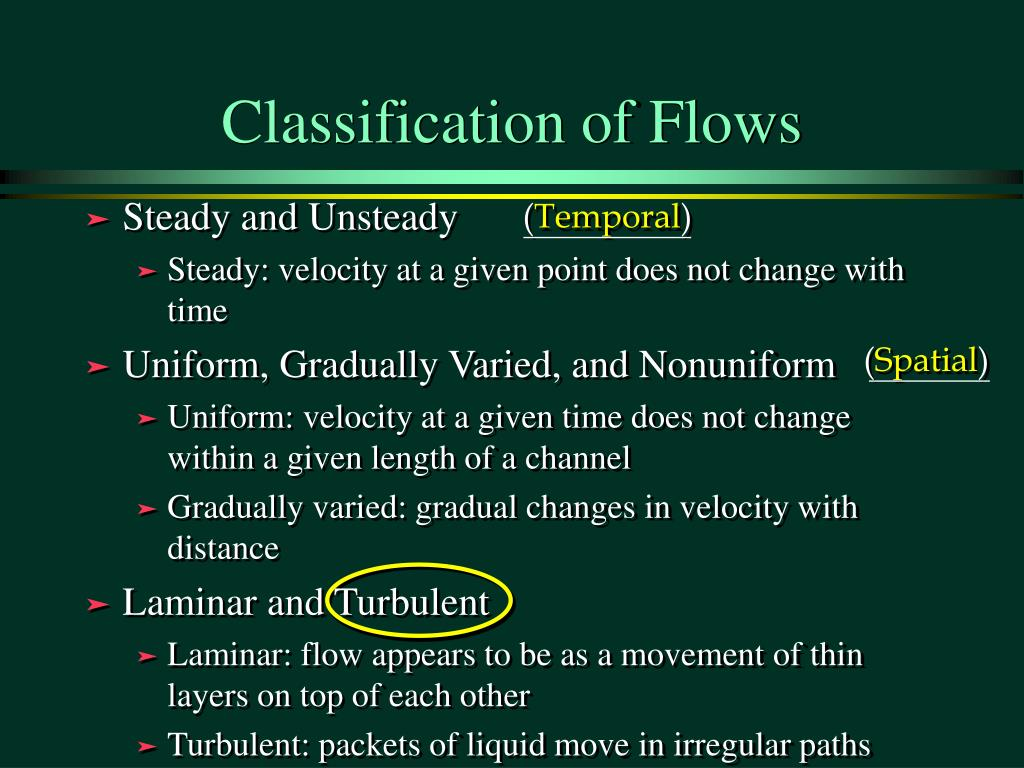 Classification of Flows