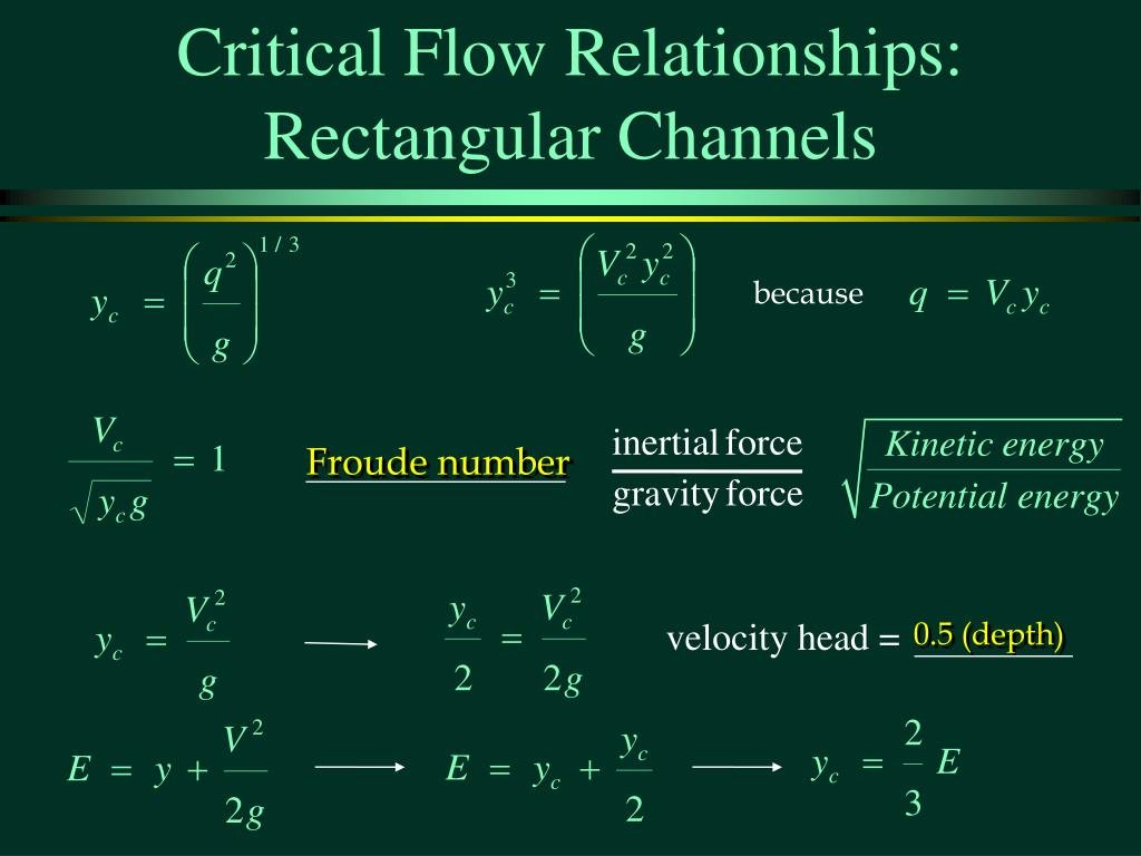 Critical Flow Relationships: