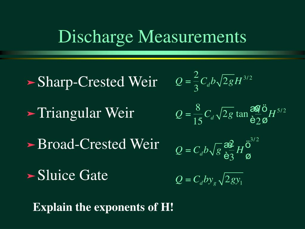 Discharge Measurements