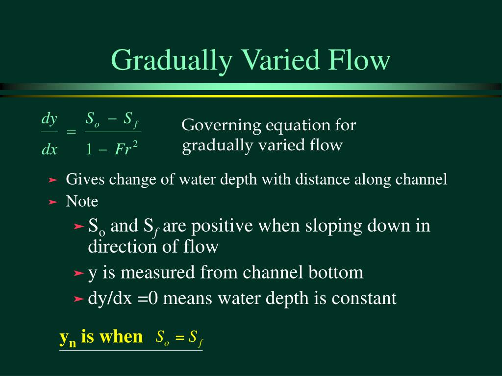Gradually Varied Flow