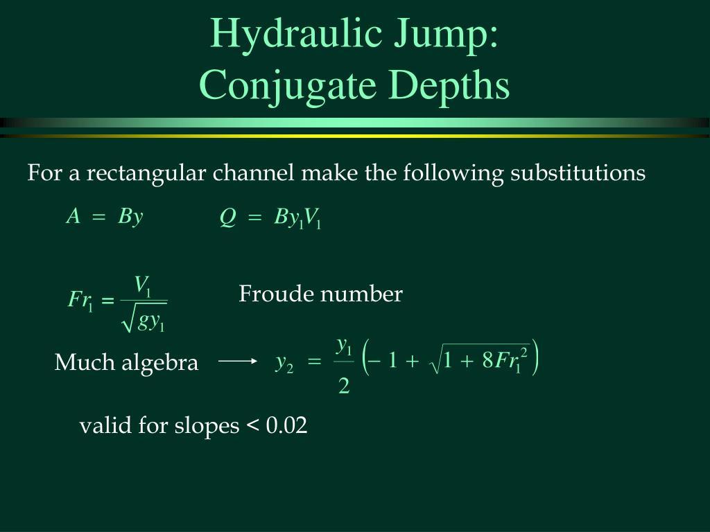Hydraulic Jump: