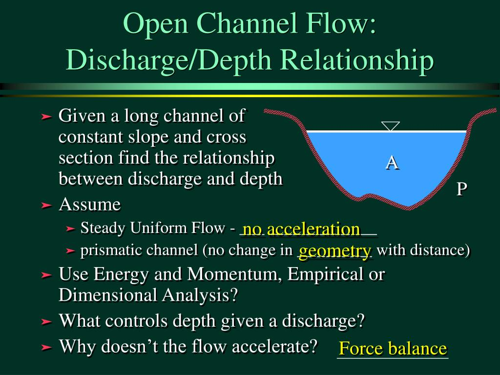 Open Channel Flow: Discharge/Depth Relationship