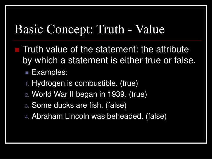 the concept of truth