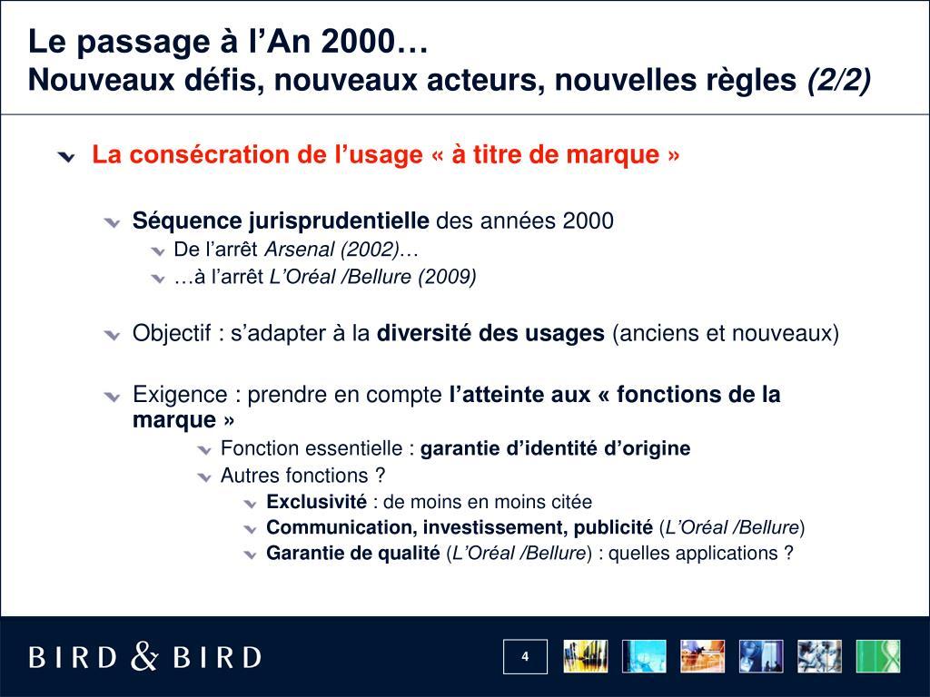 Le passage à l'An 2000…
