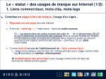 le statut des usages de marque sur internet 1 3 1 liens commerciaux mots cl s meta tags