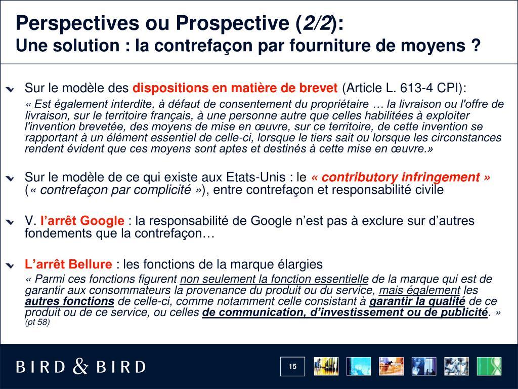 Perspectives ou Prospective (