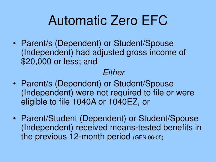 Automatic Zero EFC