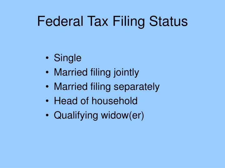 Federal Tax Filing Status
