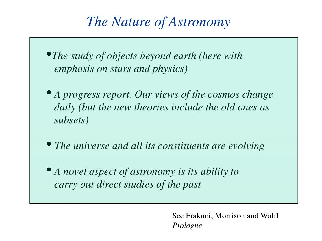 The Nature of Astronomy