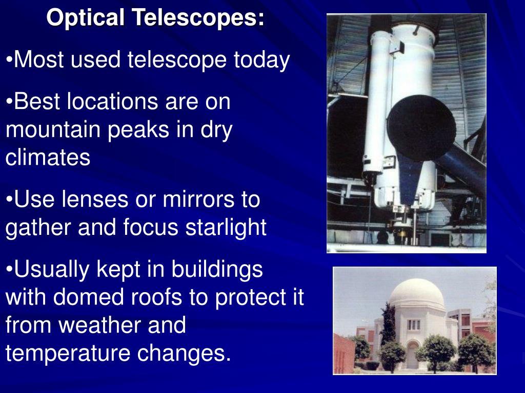 Optical Telescopes:
