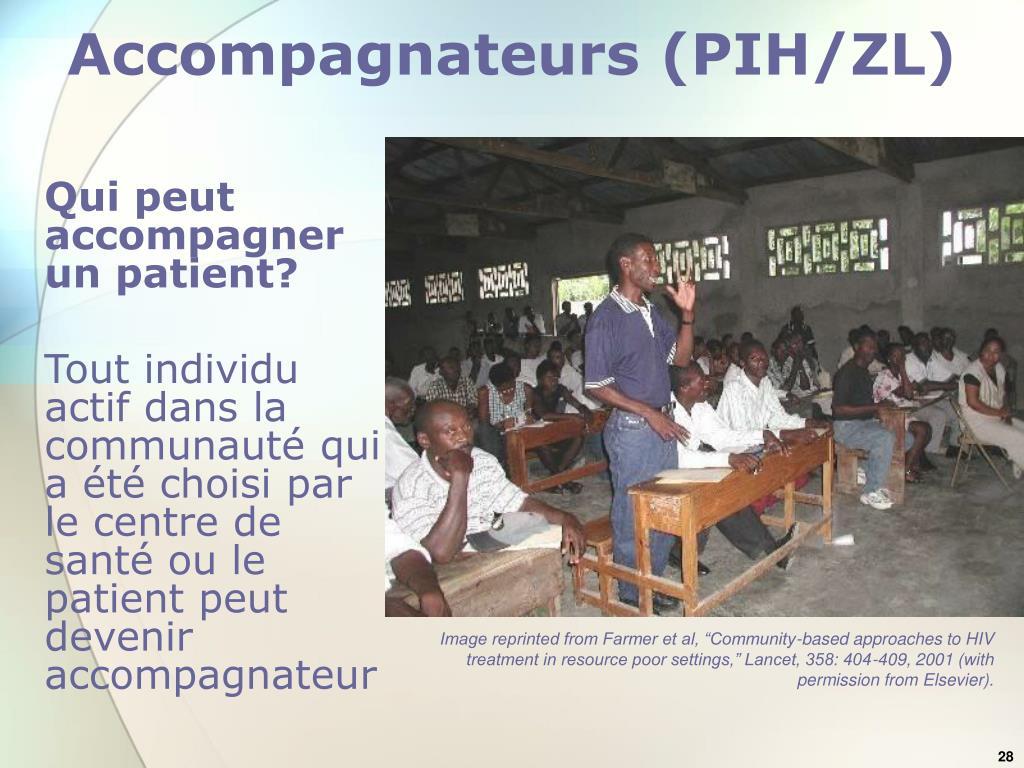 Accompagnateurs (PIH/ZL)
