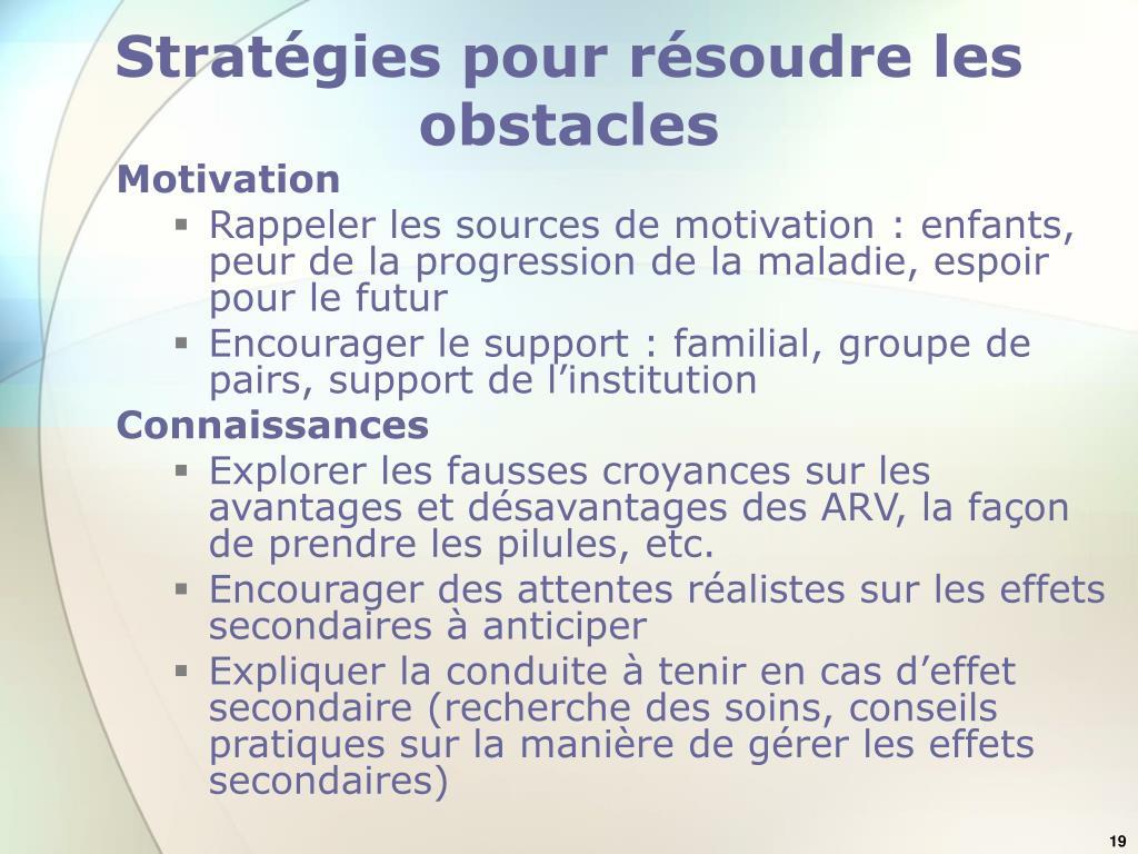 Stratégies pour résoudre les obstacles