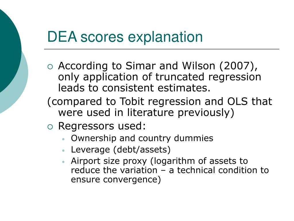 DEA scores explanation