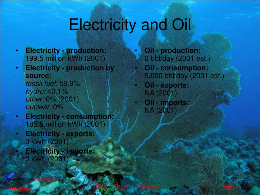 Electricity - production: