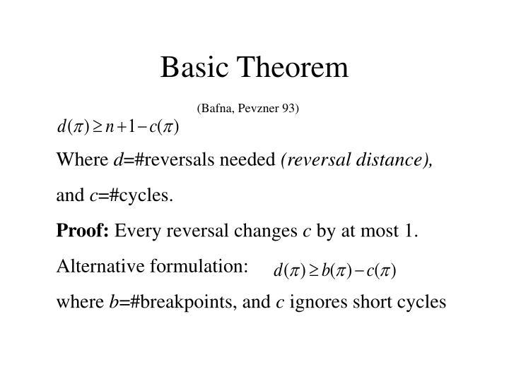 Basic Theorem