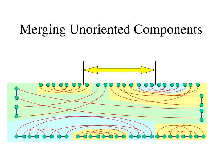 Merging Unoriented Components