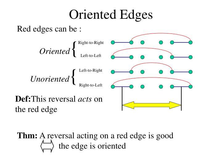 Oriented Edges