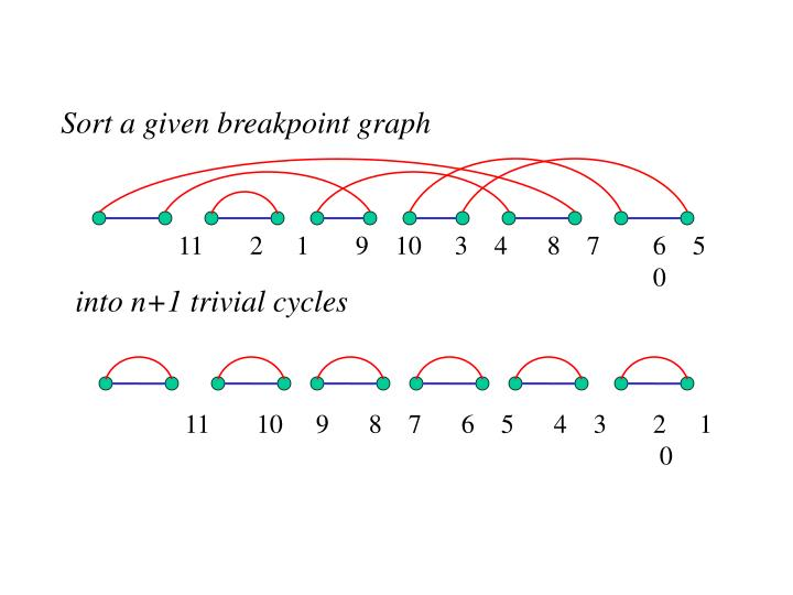 Sort a given breakpoint graph