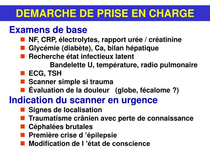 DEMARCHE DE PRISE EN CHARGE