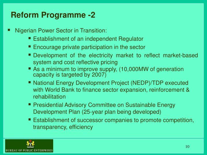 Reform Programme -2