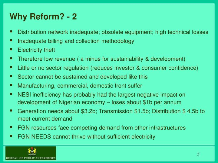 Why Reform? - 2