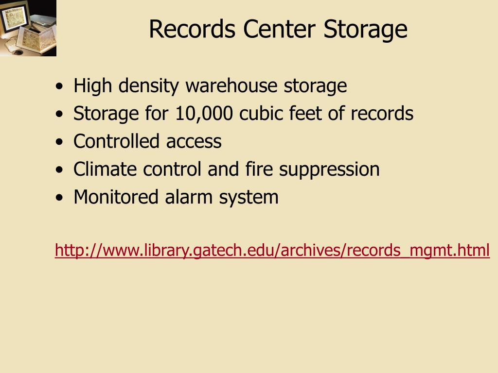 Records Center Storage