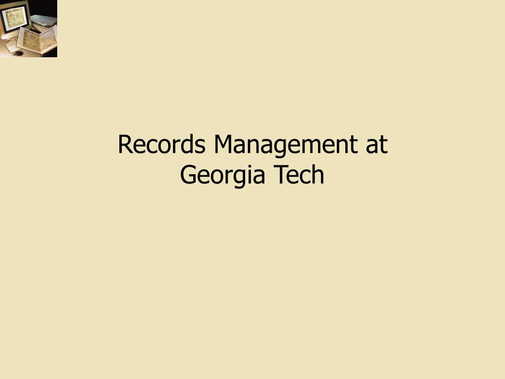Records Management at