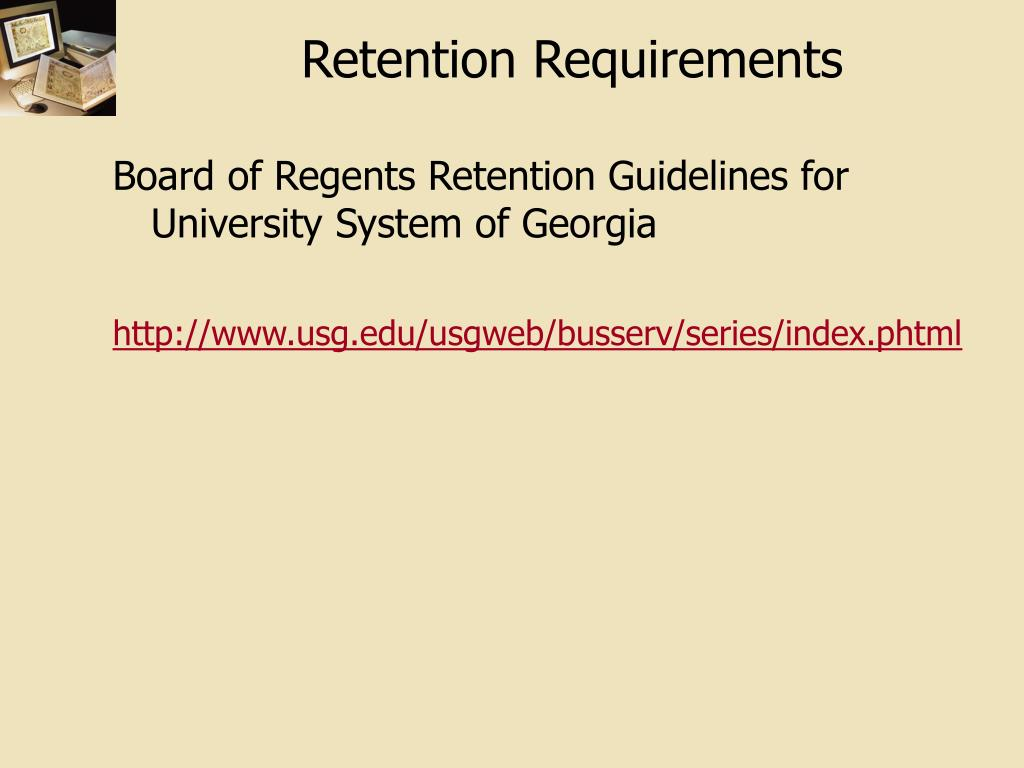 Retention Requirements