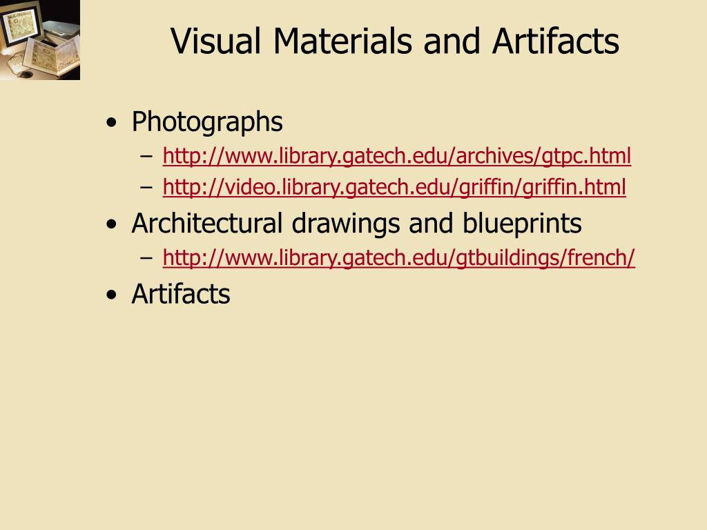 Visual Materials and Artifacts