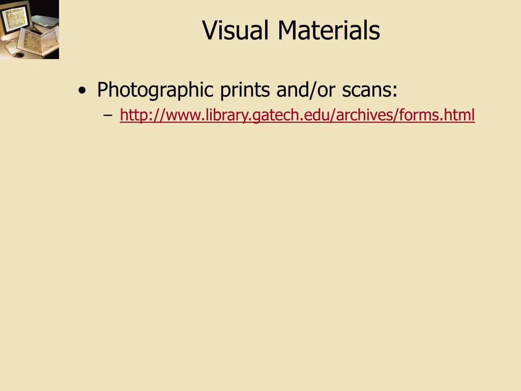 Visual Materials