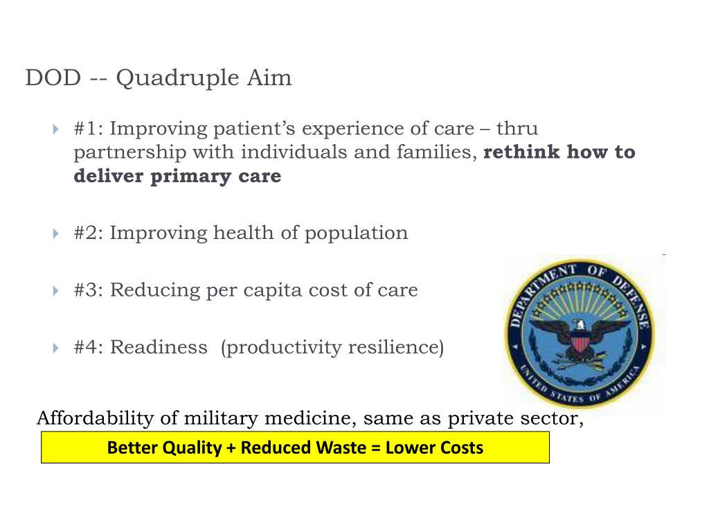 DOD -- Quadruple Aim