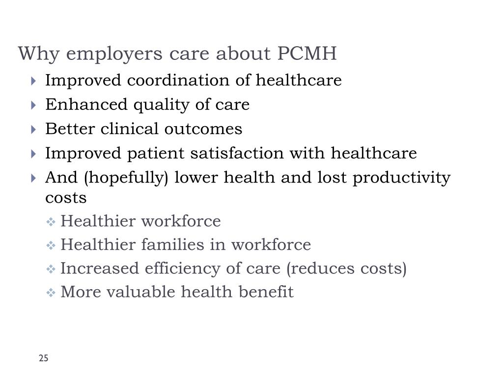Why employers care about PCMH