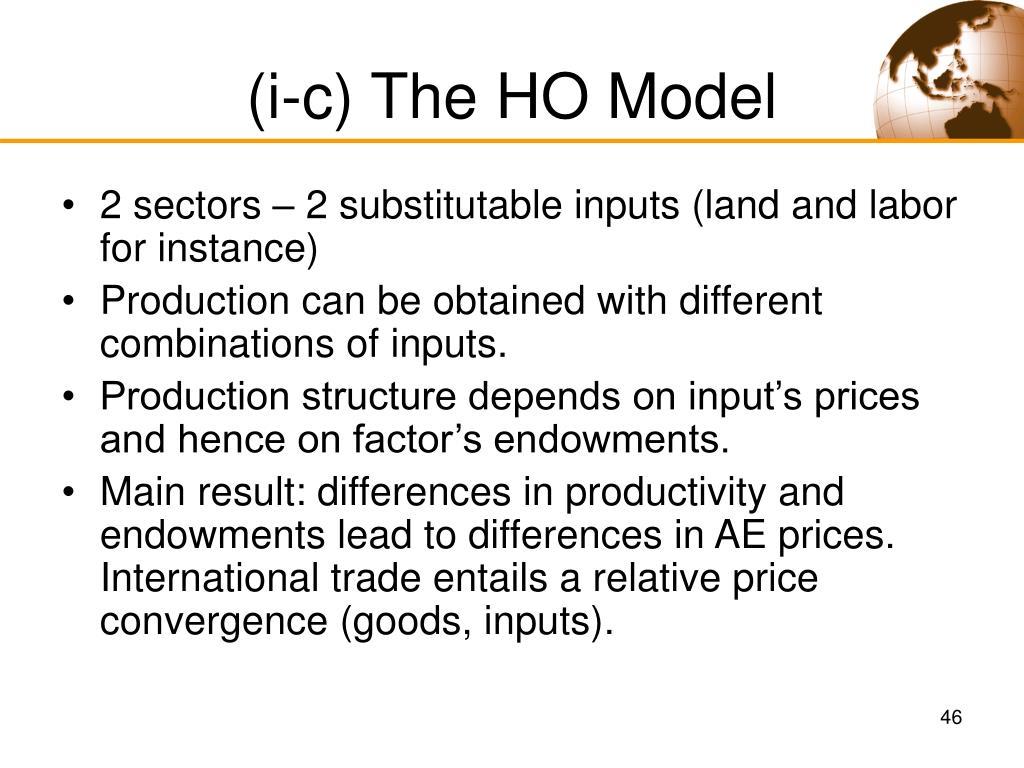 (i-c) The HO Model