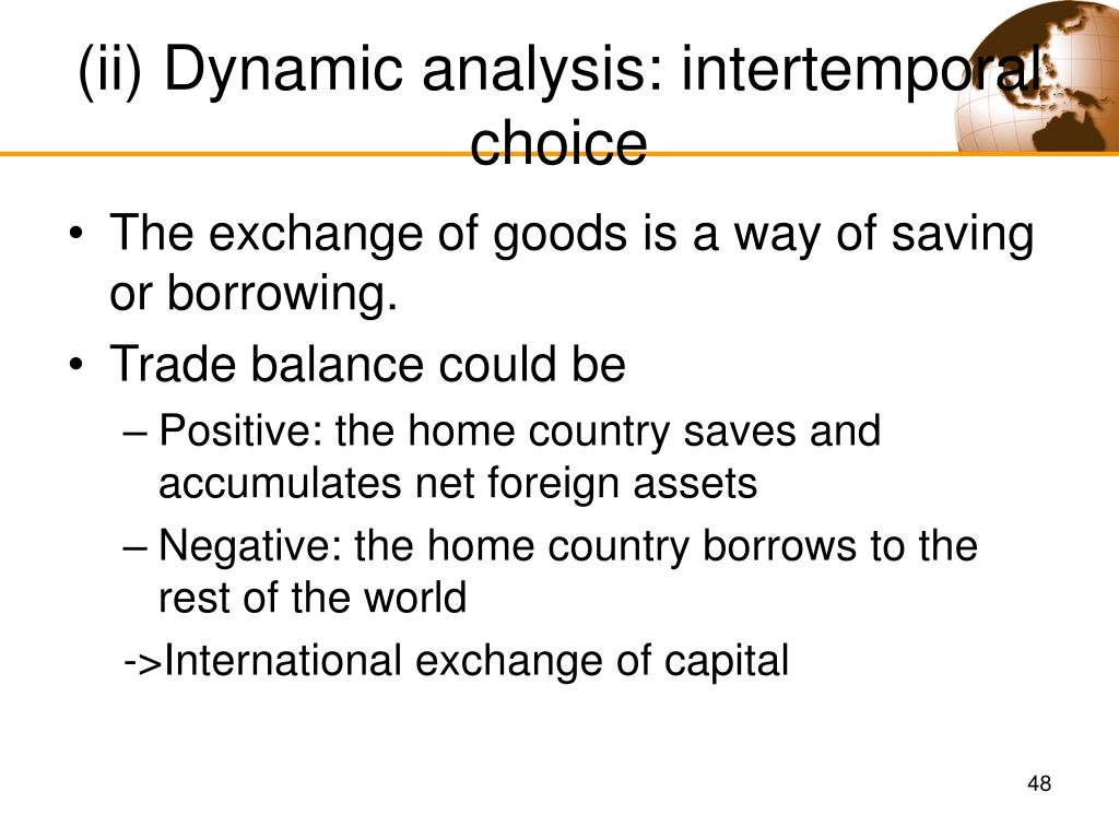 (ii) Dynamic analysis: intertemporal choice