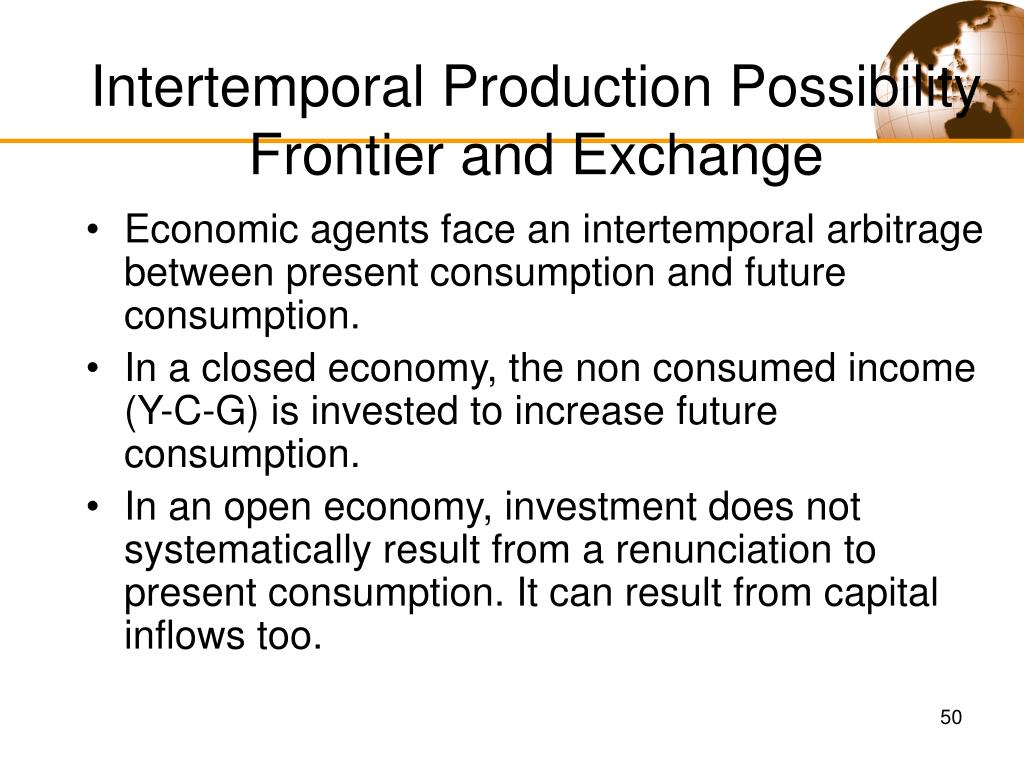Intertemporal Production Possibility Frontier and Exchange