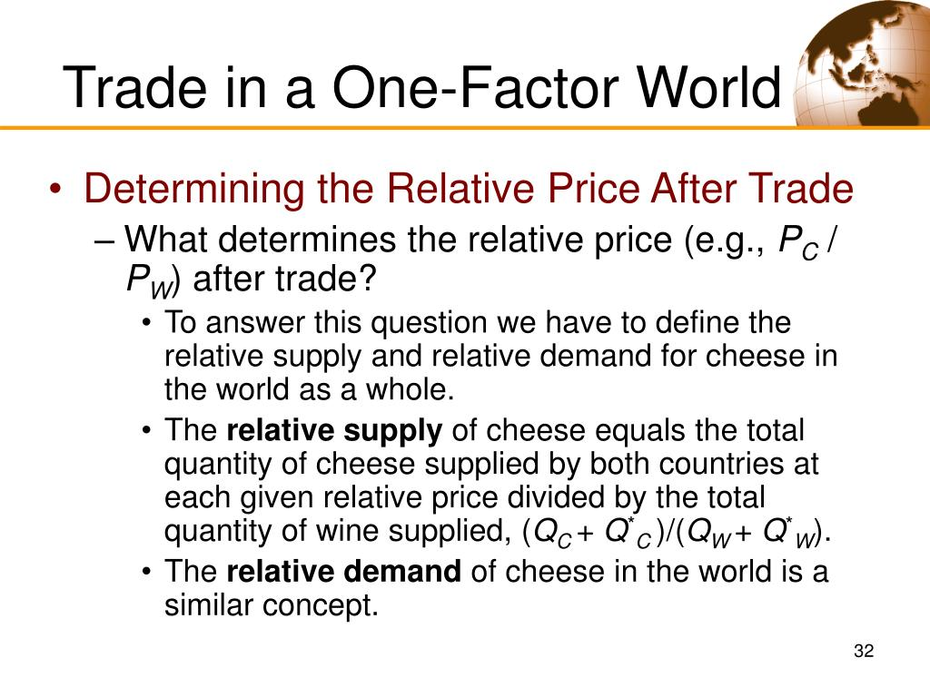 Trade in a One-Factor World