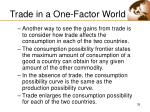 trade in a one factor world35