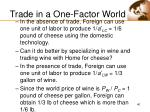trade in a one factor world40