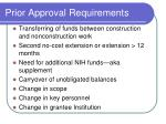 prior approval requirements1