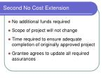 second no cost extension