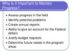 why is it important to monitor progress
