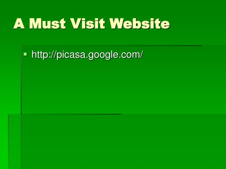 A Must Visit Website
