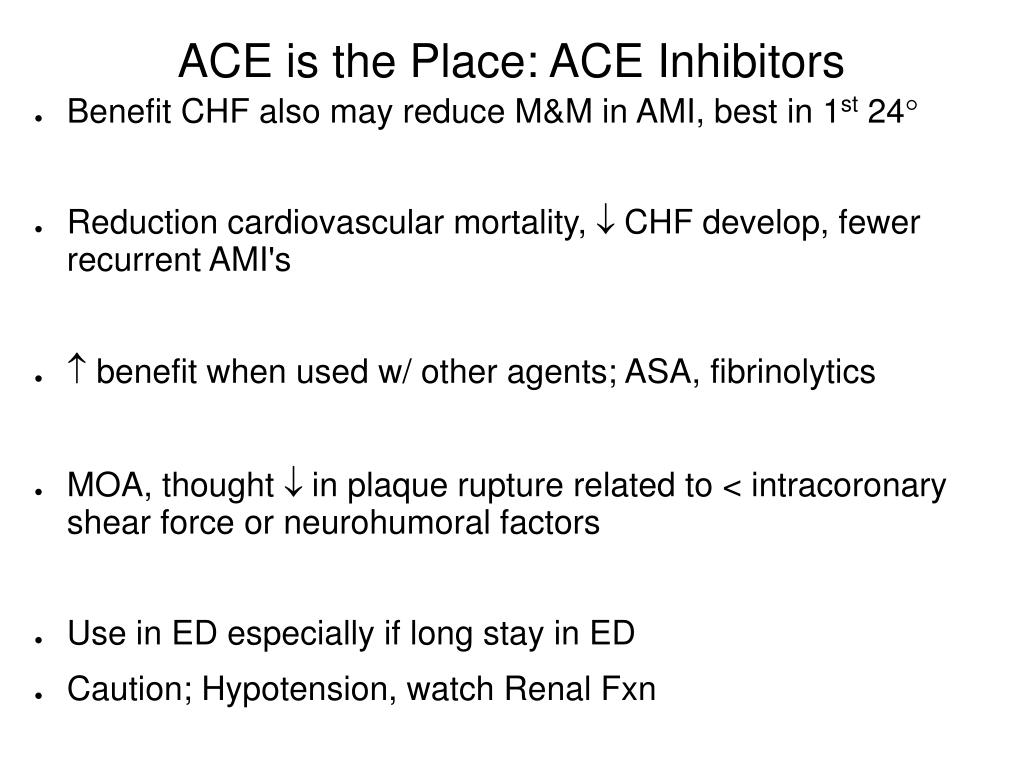 ACE is the Place: ACE Inhibitors