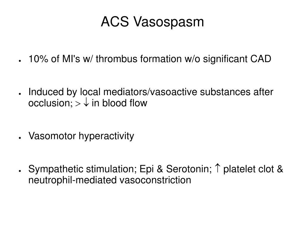 ACS Vasospasm