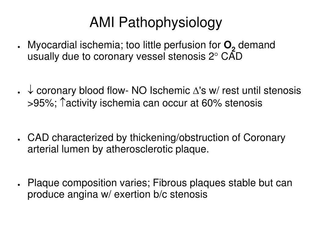 AMI Pathophysiology