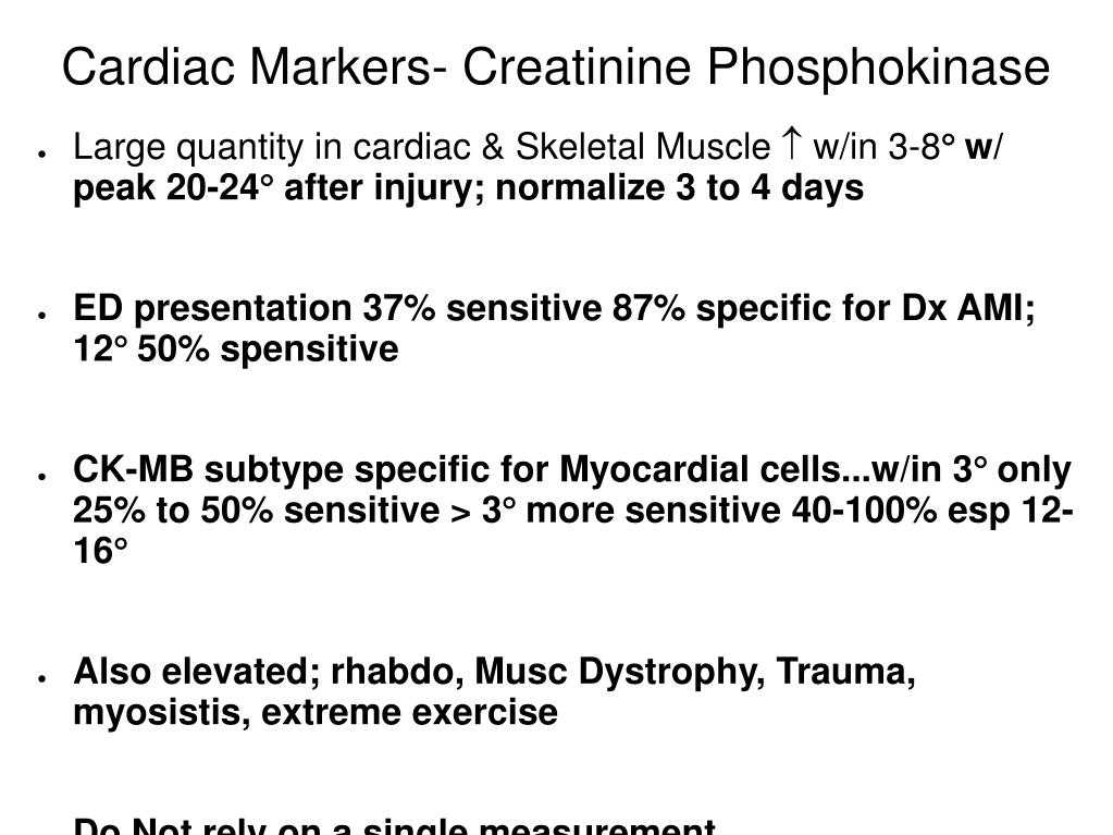 Cardiac Markers- Creatinine Phosphokinase