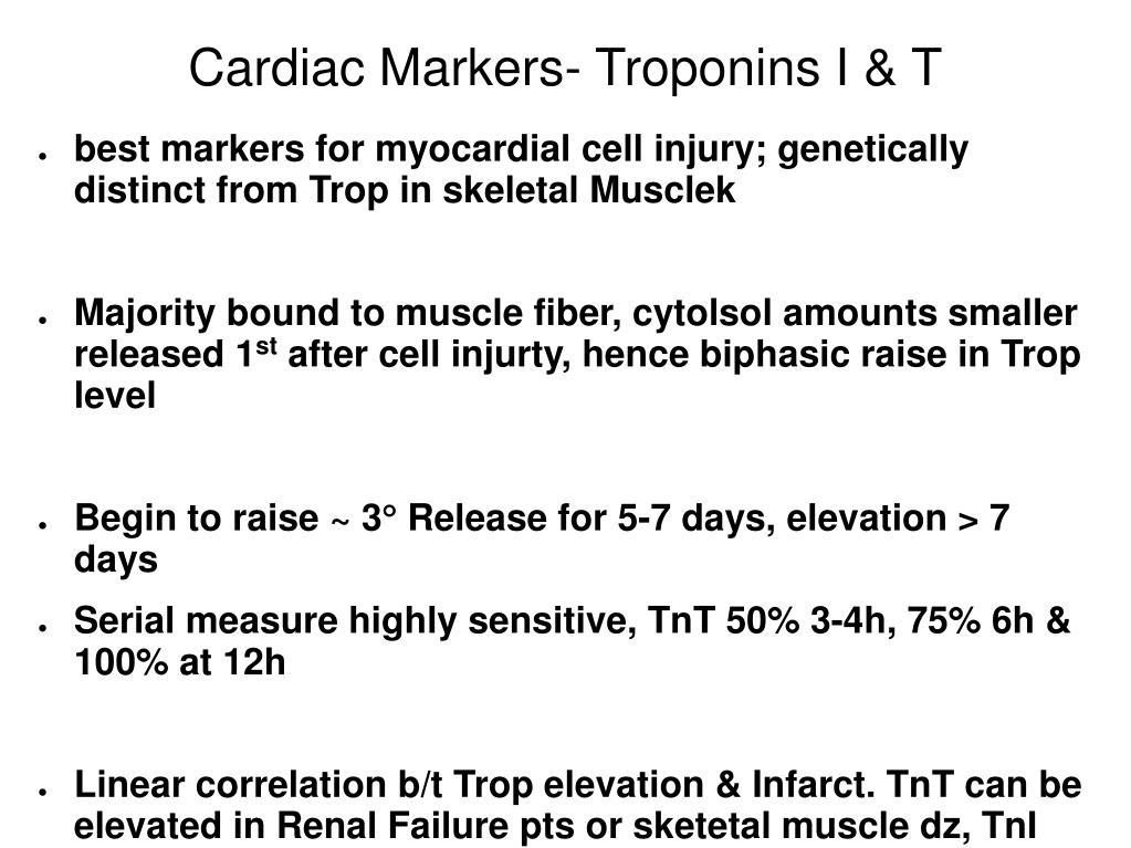 Cardiac Markers- Troponins I & T