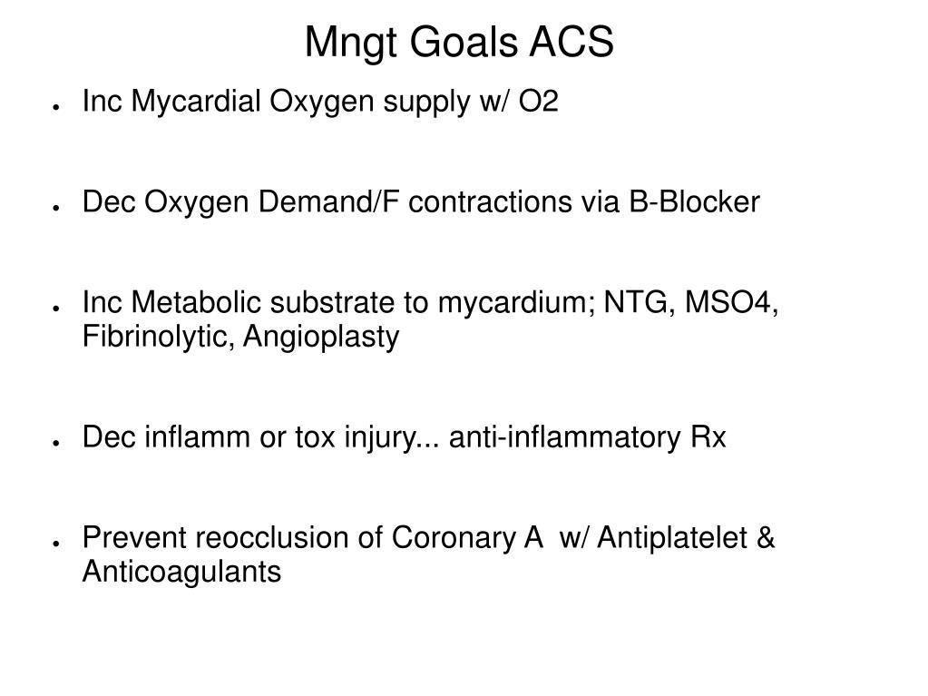 Mngt Goals ACS