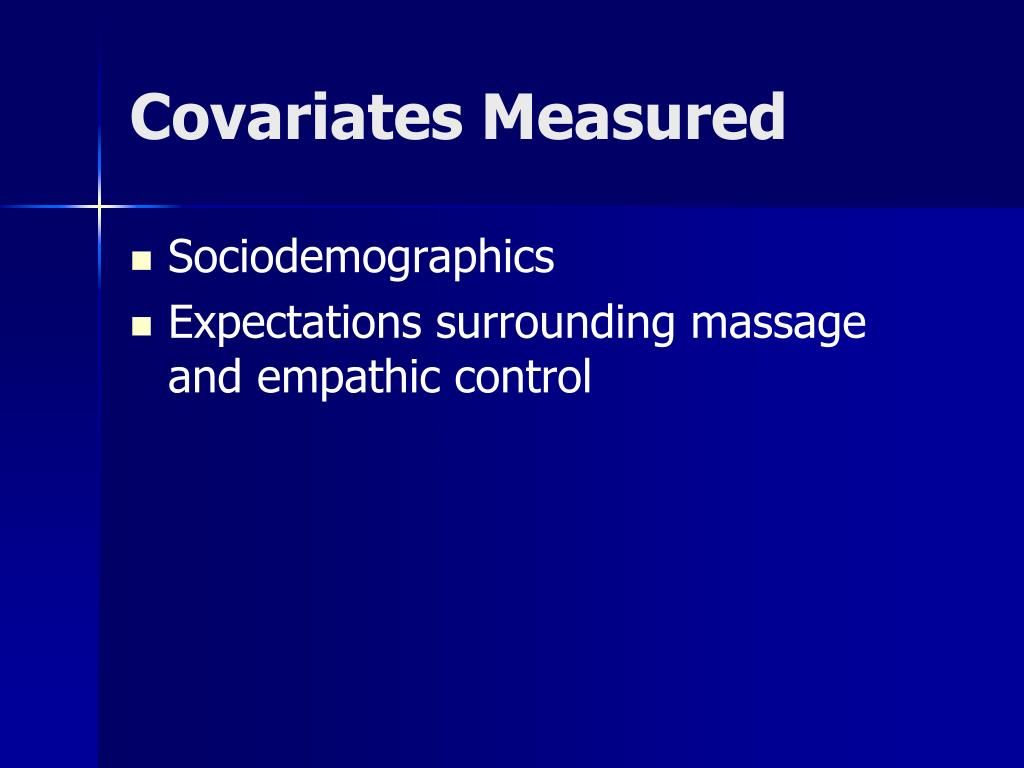 Covariates Measured