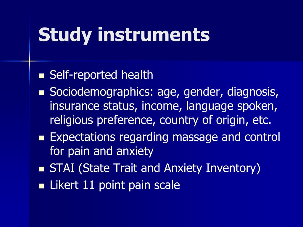 Study instruments